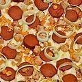 PIZZA BARBACOA: Base, tomate, mozzarella, carne picada, beicon, salchichas y nuestra salsa BBq especial, una pizza ideal para los amantes de este tipo de salsa, deliciosa.