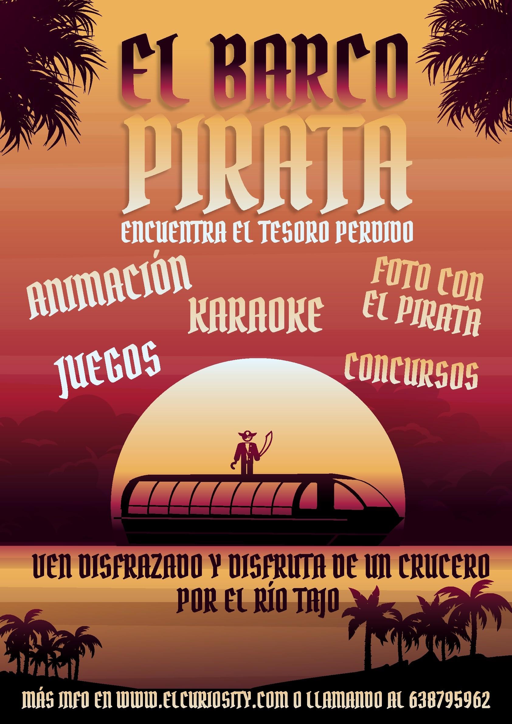 Cartel barco Pirata